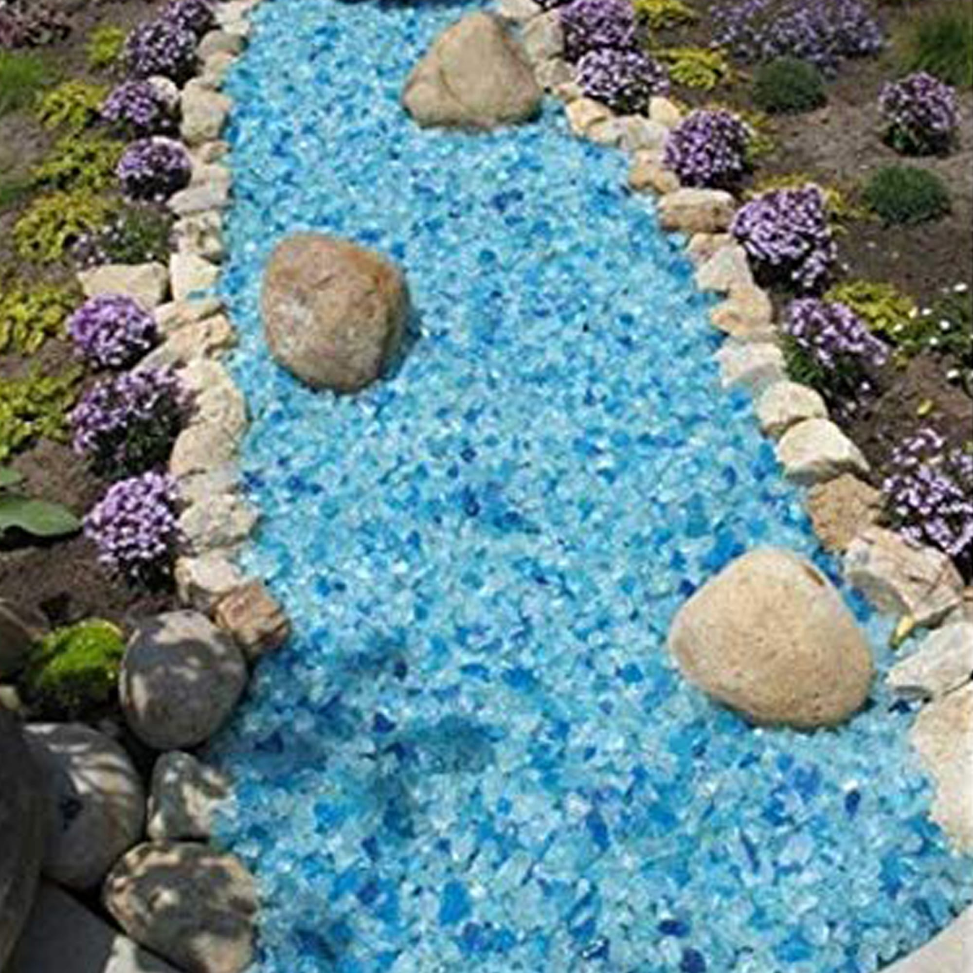 Blue Hawaii Landscape Glass