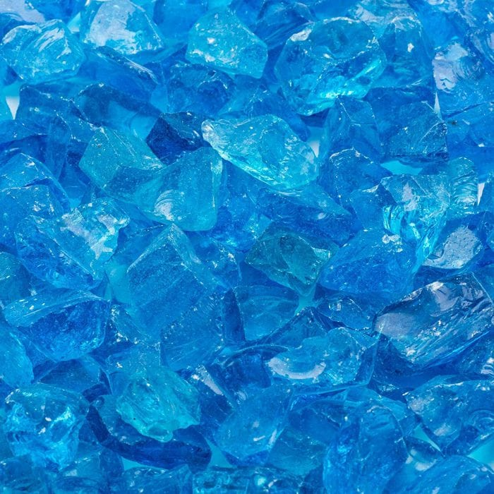 Sea Blue Landscape Glass