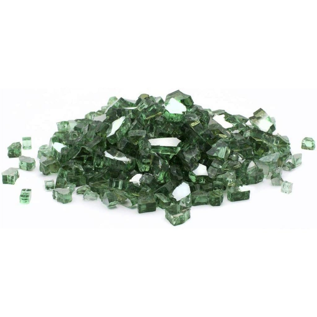 Green Reflective Fire Glass