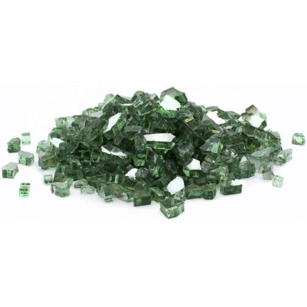 Green Reflective Fire Glass