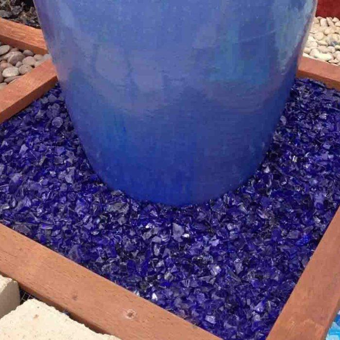Cobalt Blue Landscape Glass