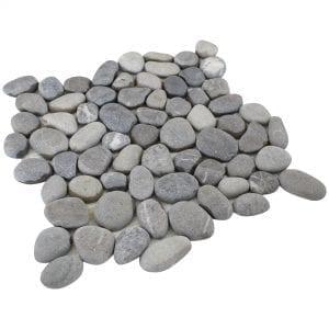 Gray pebble tile