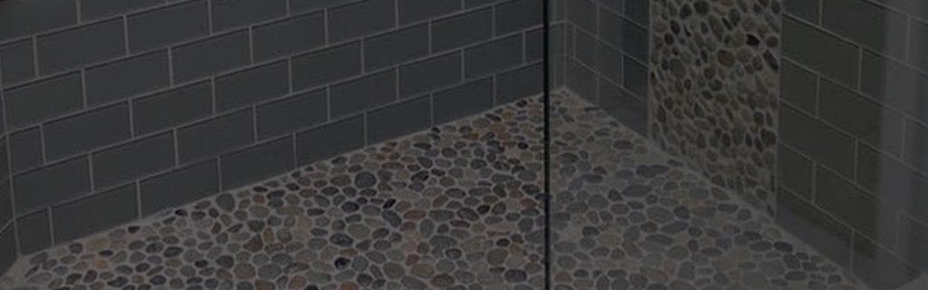 Pebble shower tiles