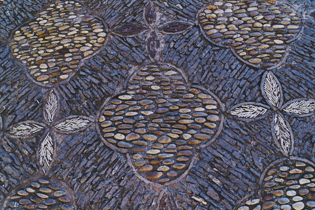 Decorative stone mosaic design