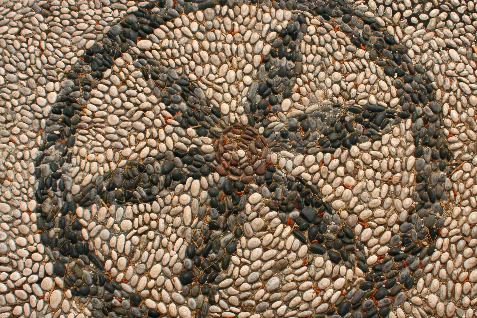Garden stone mosaic design