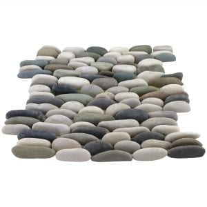 Stacked Blend Pebble Tile
